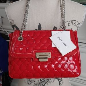 Nine West Red Bag.    NWT